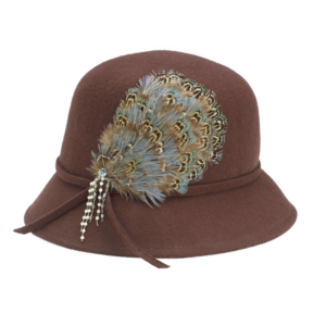 141a_Brown Feather Bucket